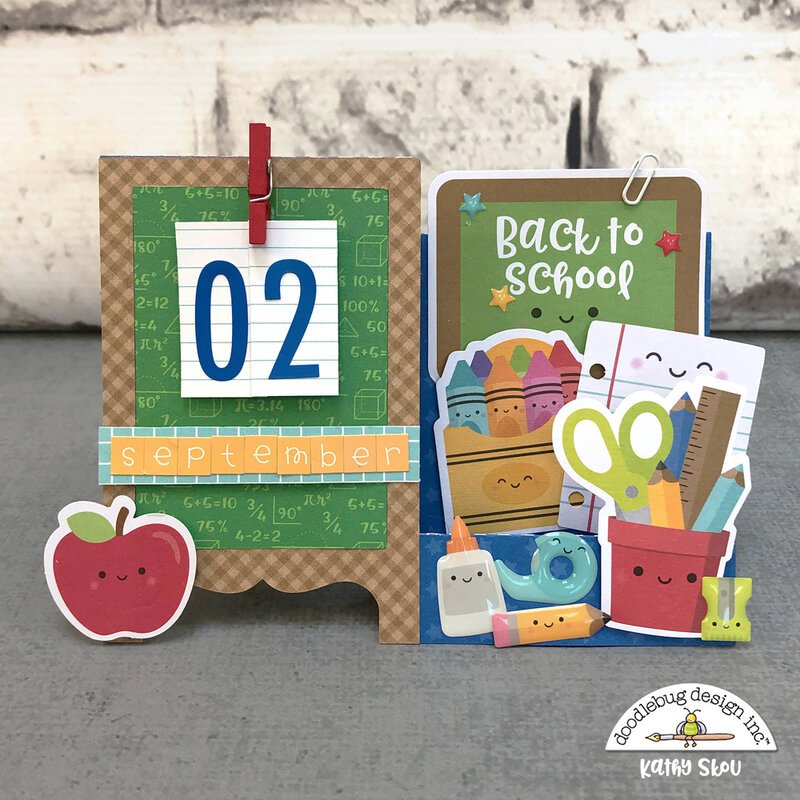 Doodlebug Design | School Days Desk Calendar Card