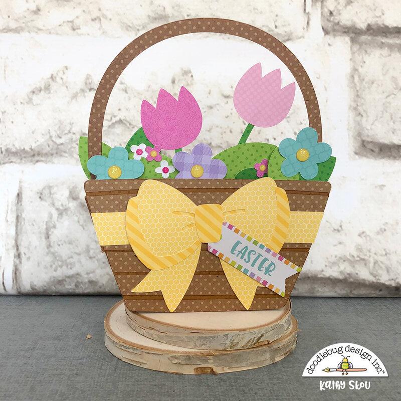 Doodlebug Design | Hoppy Easter Basket Box Card