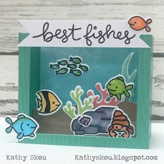 Best Fishes Shadowbox Card