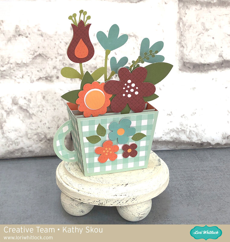 Lori Whitlock | Teacup Box Card