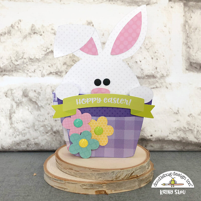Doodlebug Design | Hoppy Easter Bunny Box Card