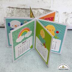 Doodlebug Design:  Petite Prints Desk Calendar 2019