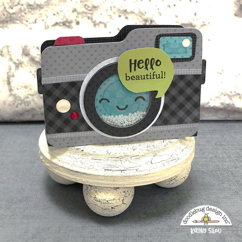 Doodlebug Design | I ❤ Travel Camera Box Card