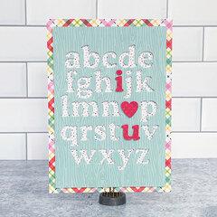 Lori Whitlock I Love You Alphabet Card