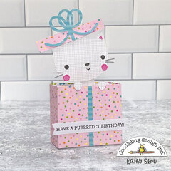 Doodlebug Design | Hey Cupcake Cat in Present Box Card