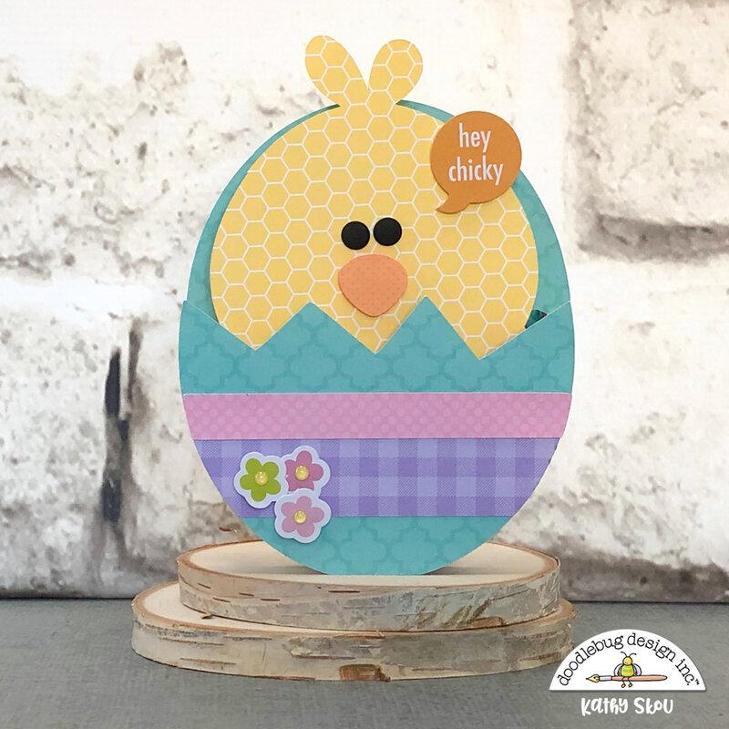 Doodlebug Design | Hoppy Easter Chick Box Card