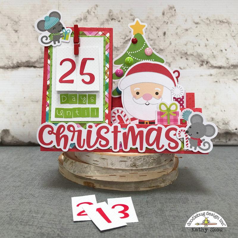 Doodlebug Design | Christmas Town Countdown Card