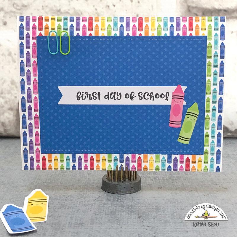 Doodlebug Design | School Days Pop Up Card