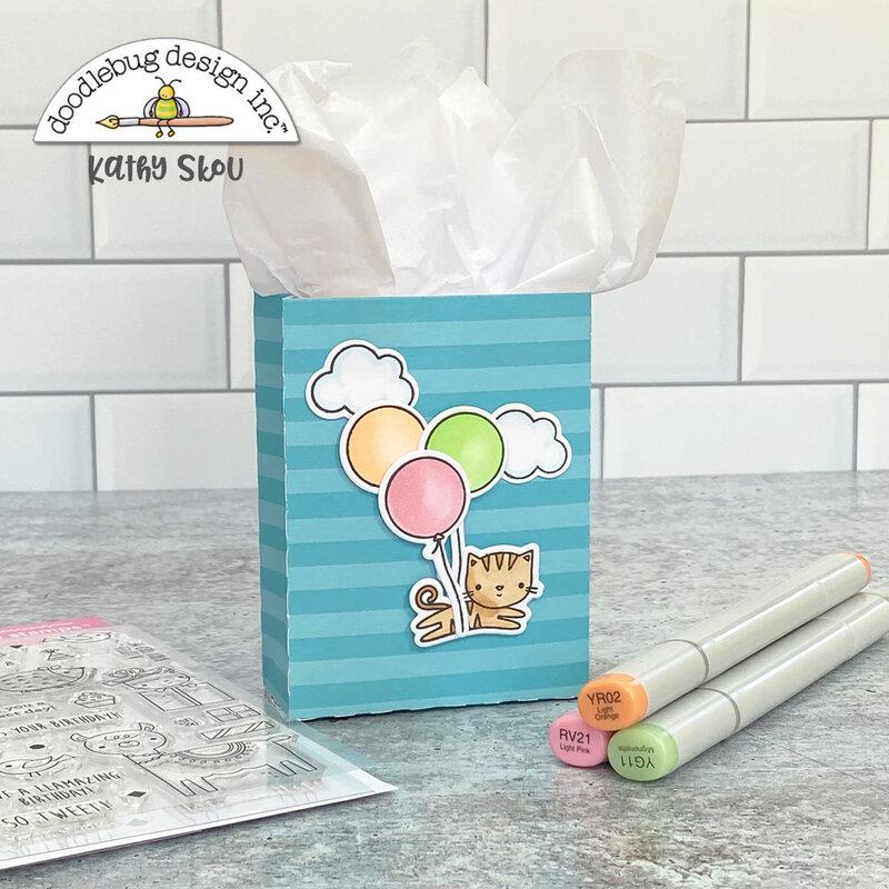 Doodlebug Design | Hey Cupcake Card & Gift Bag