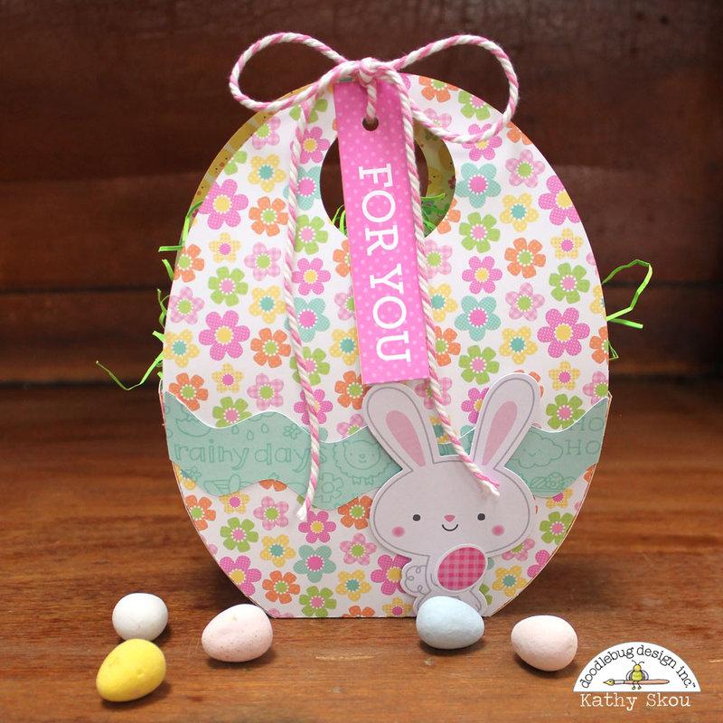 *** Doodlebug Design *** Easter Express Shaker Card and Egg Box