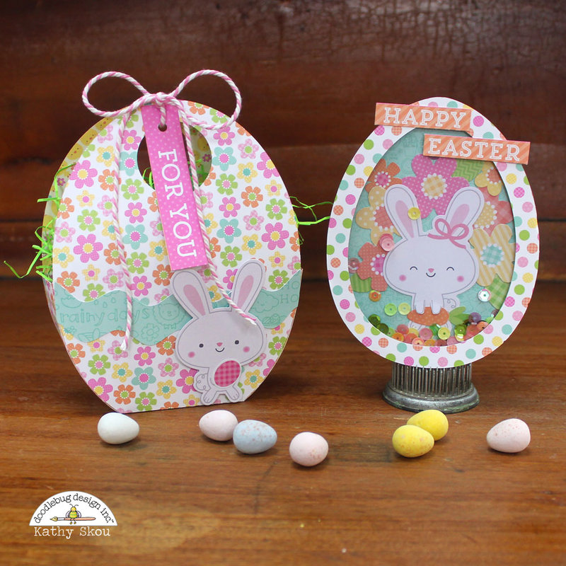 *** Doodlebug Design *** Easter Express Shaker Card and Egg Box