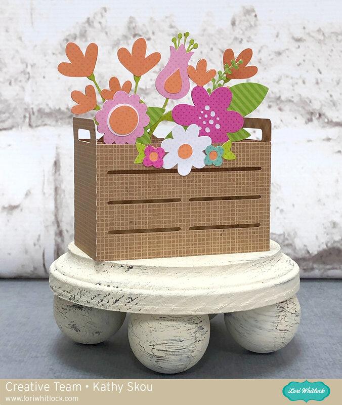 Lori Whitlock | Floral Crate Box Card