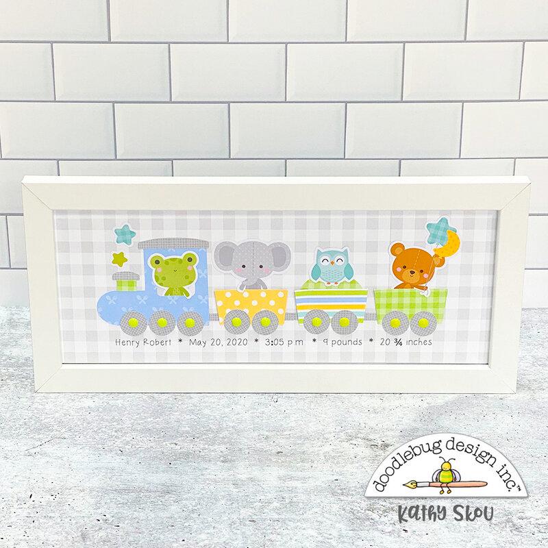 Doodlebug Design | Baby Stats Frame