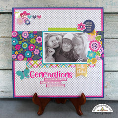 Doodlebug Design:  Hello Generations Layout