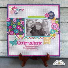Doodlebug Design:  Hello Generations Layout