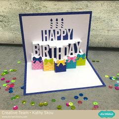 Lori Whitlock Pop Up Happy Birthday Card