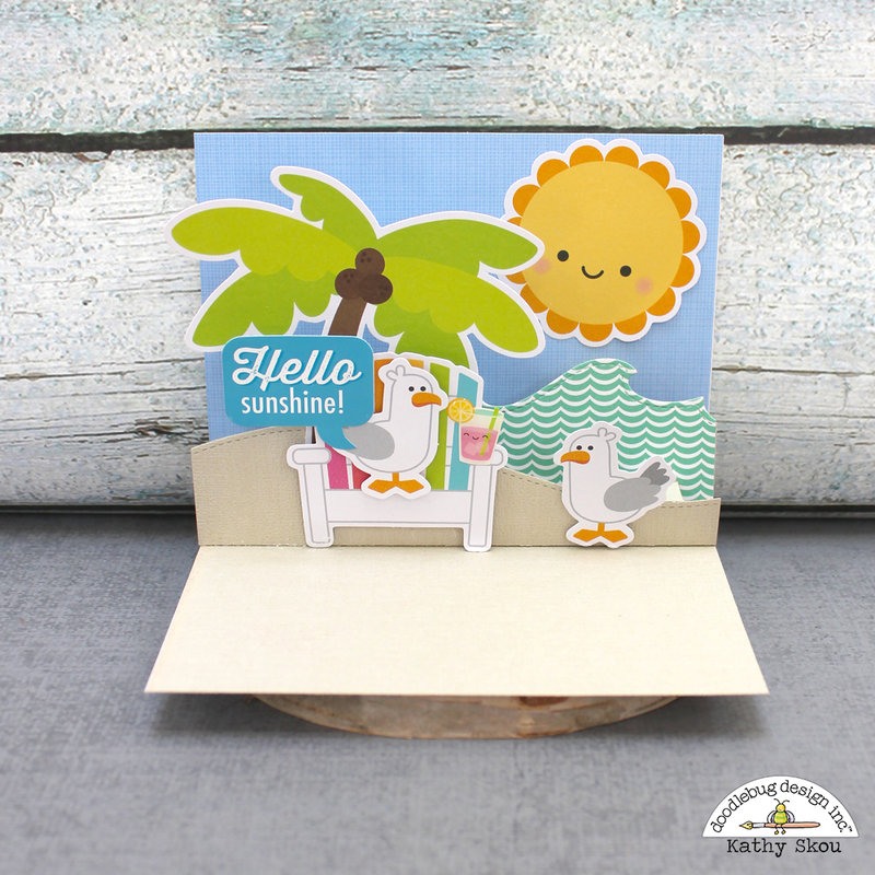 Doodlebug Design Sweet Summer Pop Up Card Hello