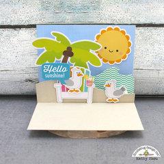 Doodlebug Design Sweet Summer Pop Up Card Hello