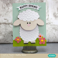 Happy Spring Lamb Bobblehead Card
