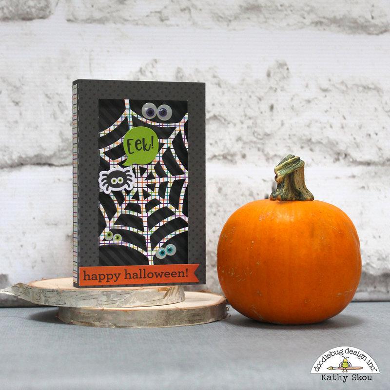 Doodlebug Design | Pumpkin Party Eeek! Shadowbox Card