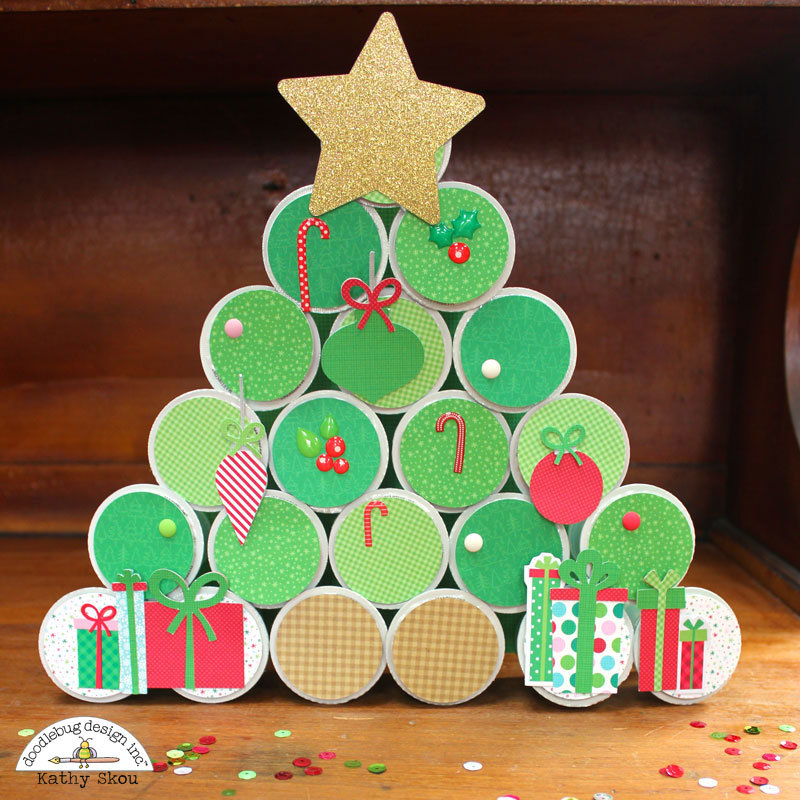 *** Doodlebug Design *** K-Cup Christmas Tree Hostess Gift