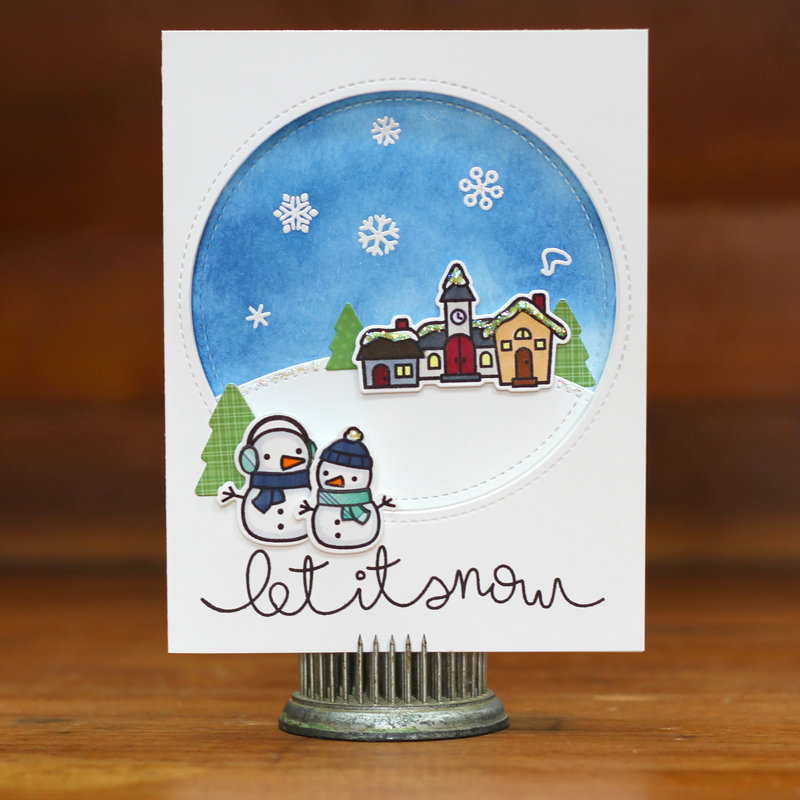 Lawn Fawn Let it Snow Card