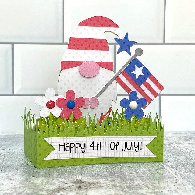 Lori Whitlock | Gnome 4th of July Box Card