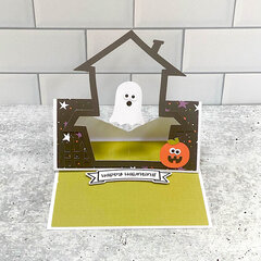 Lori Whitlock | Floating Easel Card Haunted House