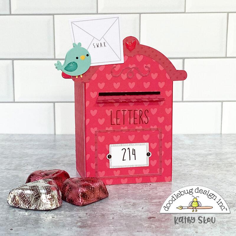 Doodlebug Design   Love Notes 3D Mailbox