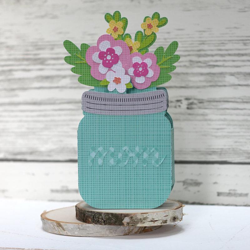 Mother's Day Mason Jar Box Card