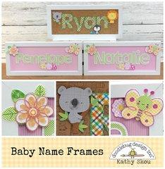 *** Doodlebug Design *** Baby Name Frames