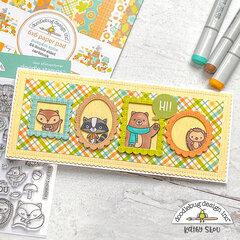 Doodlebug Design | Forest Friends Slimline Card