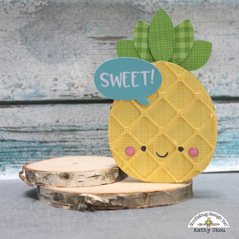 * Doodlebug Design * Sweet Summer Pineapple Box Card