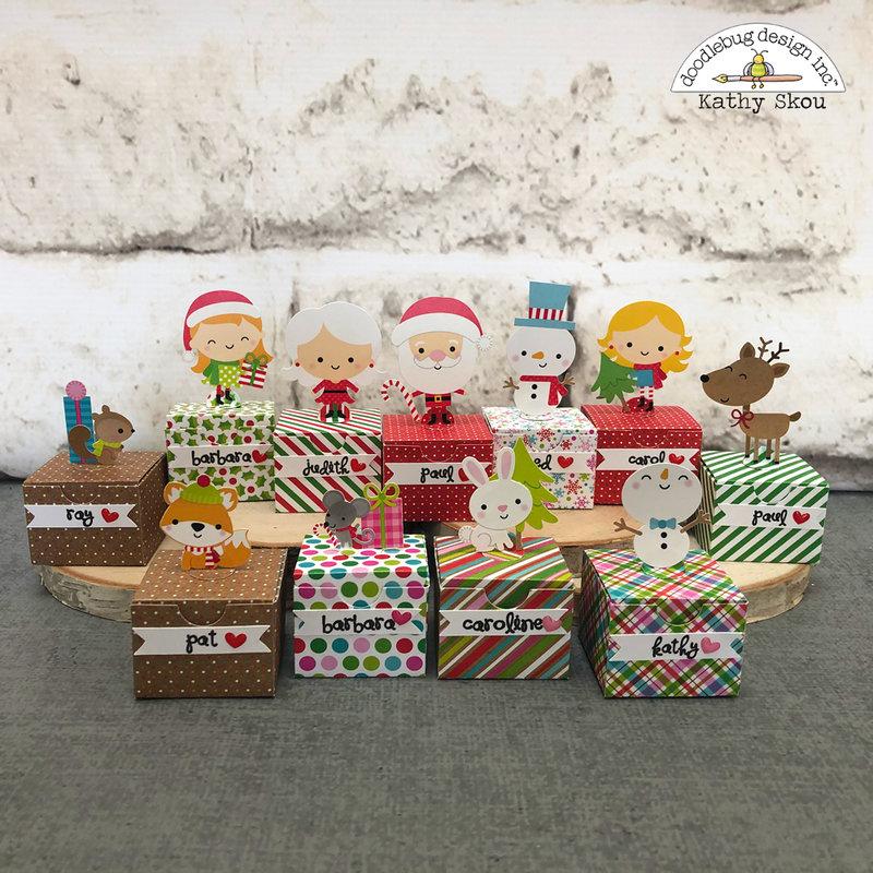 Doodlebug Design | Christmas Town Place Cards