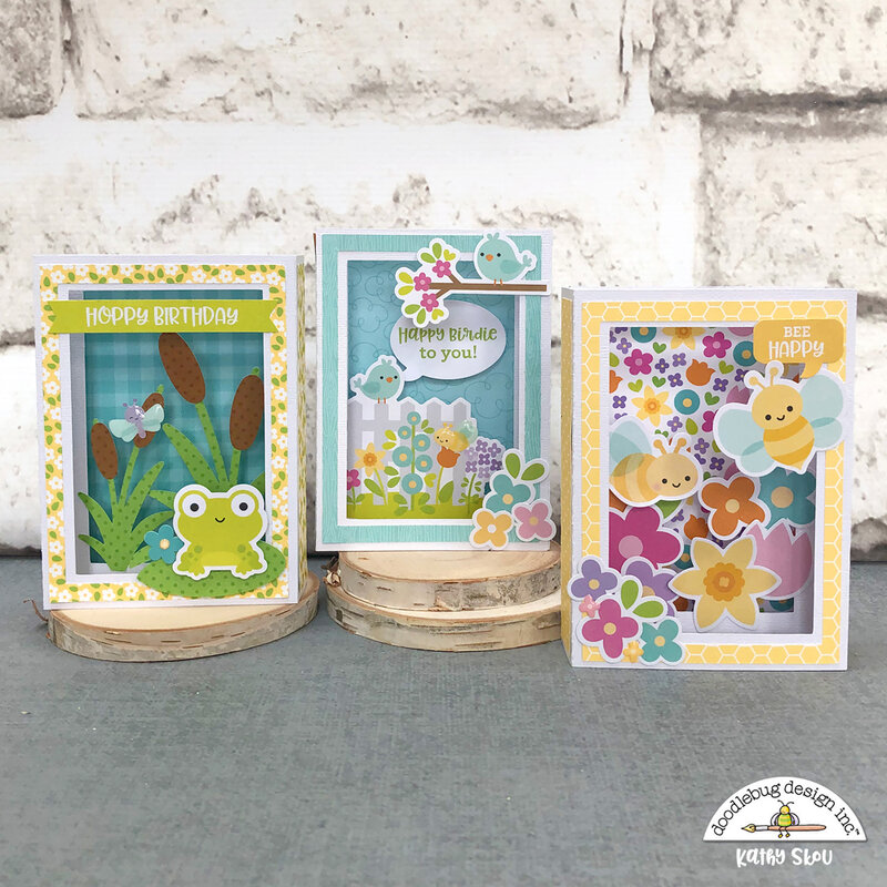 Doodlebug Design | Simply Spring Shadow Box Cards