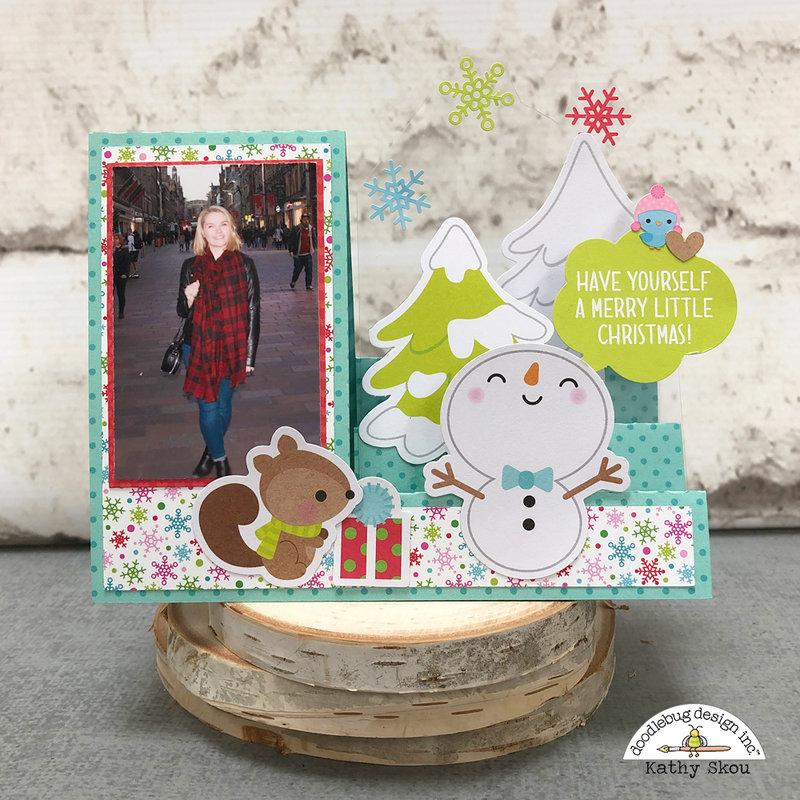 Doodlebug Design   Christmas Town Step Card