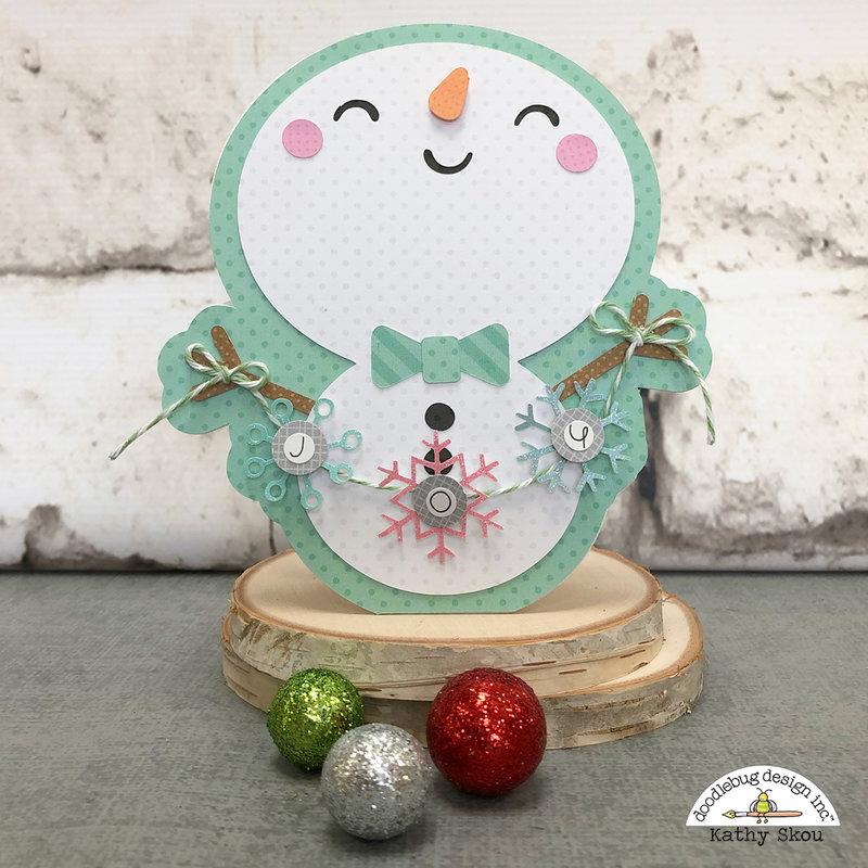 Doodlebug Design | Christmas Town Snowman Card