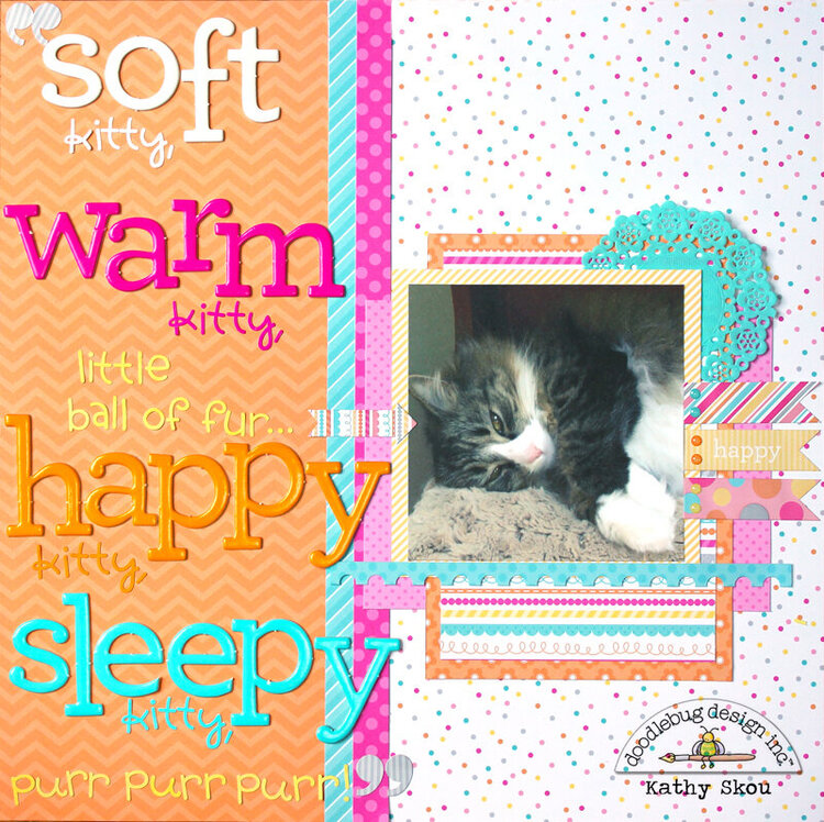 *** Doodlebug Design *** Soft Kitty