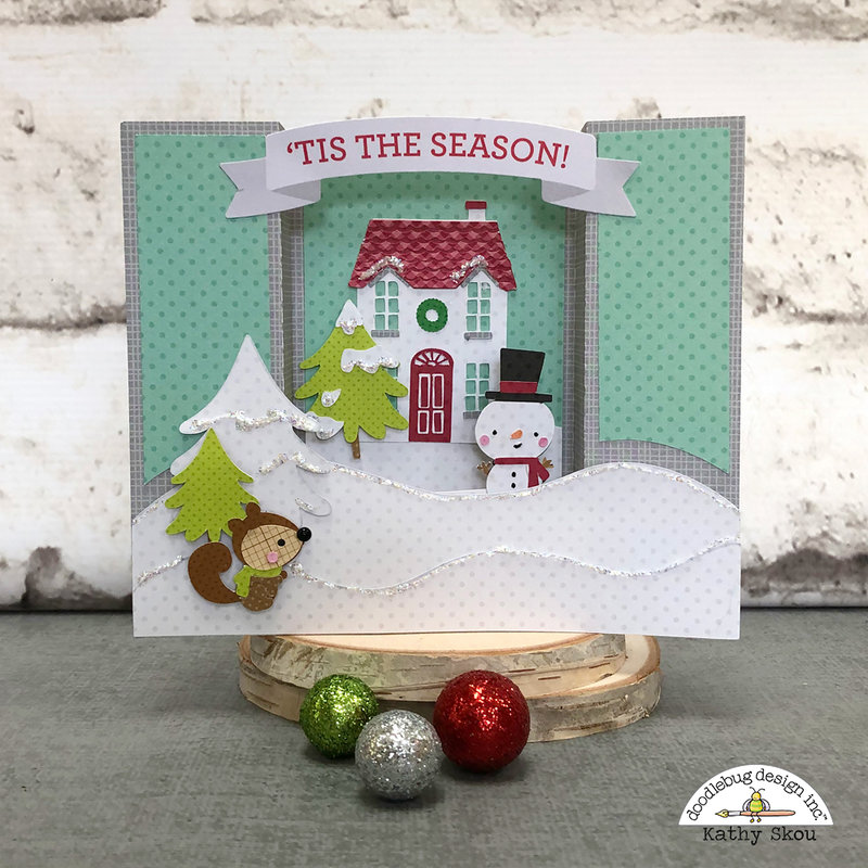 Doodlebug Design | Christmas Town Cut Files Center Box Card