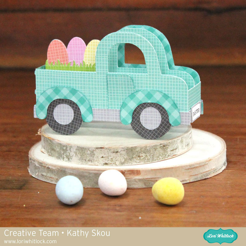 Easter Truck Box Card