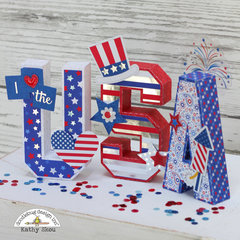 *** Doodlebug Design *** Yankee Doodle USA Home Decor