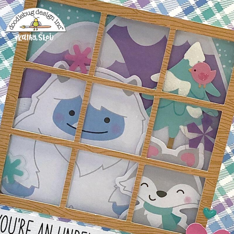 Doodlebug Design   Winter Wonderland Window Card