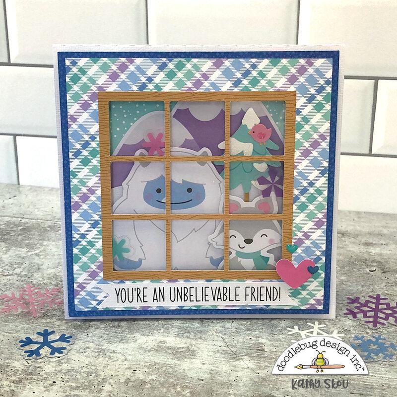 Doodlebug Design | Winter Wonderland Window Card