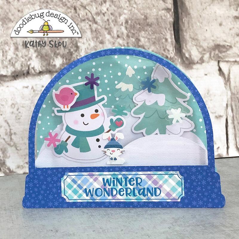 Doodlebug Design | Winter Wonderland Snow Globe Box Card