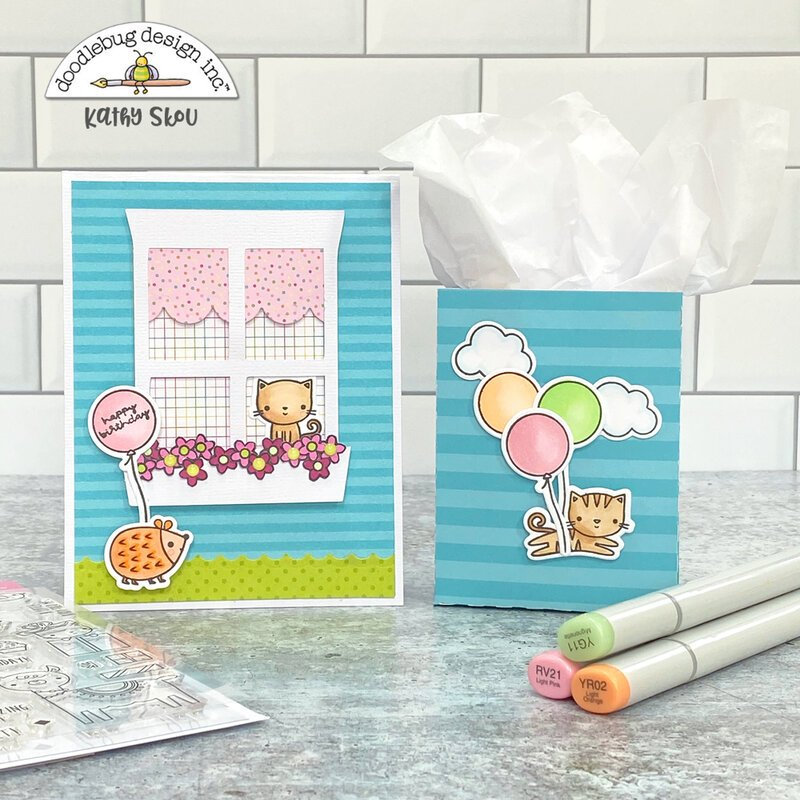 Doodlebug Design | Hey Cupcake Card & Gift Bag