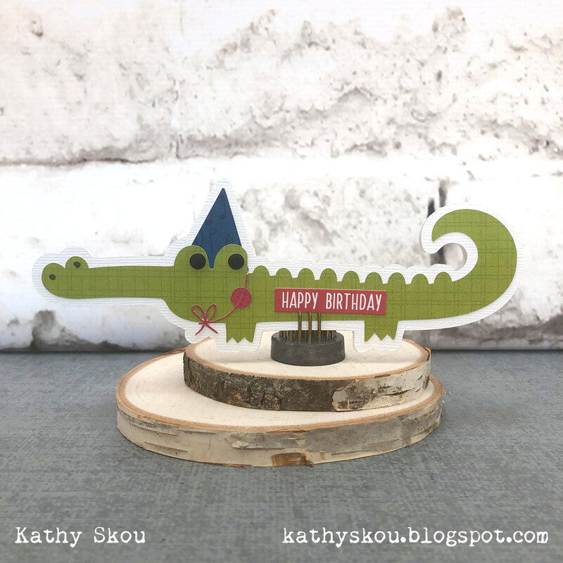 Wish Big Alligator Shaped Birthday Card