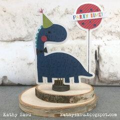 Wish Big Dinosaur Shaped Birthday Card
