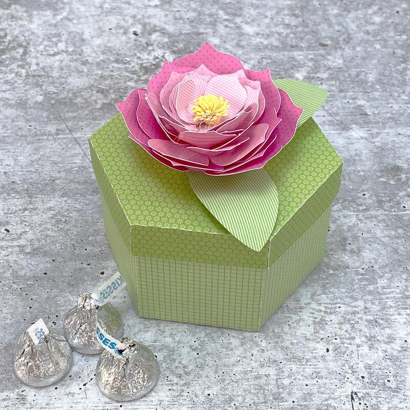 Lori Whitlock | Hexagon Box with Dahlia