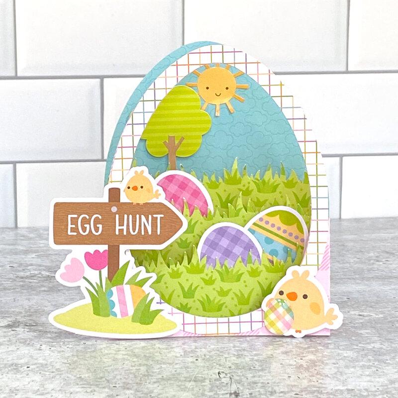 Hippity Hoppity Egg Hunt Box Card