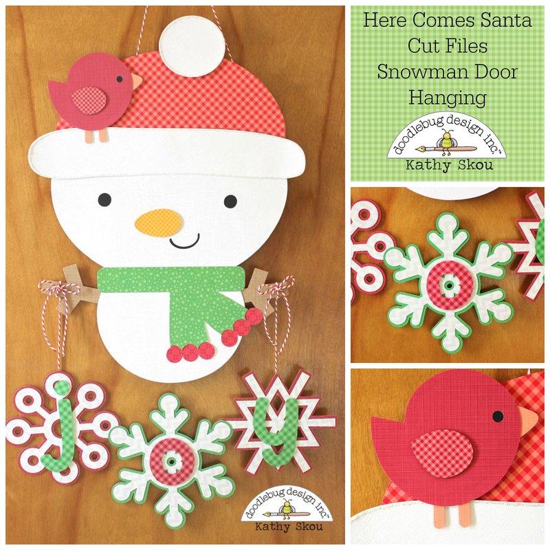 *** Doodlebug Design *** Snowman Door Hanger